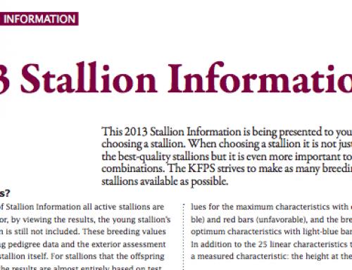 KFPS 2013 Stallion Info